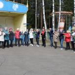 Ветераны города Иванова приняли участие в оздоровительных тренировках на свежем воздухе в рамках партийной акции «ЕР тренирует»
