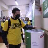 Активисты МГЕР установили в одном из рязанских вузов контейнеры для сбора батареек