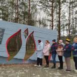 В Клинцовском районе прошел субботник по благоустройству мемориального комплекса «Речечка» и воинских захоронений