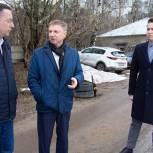 Владимир Жук проверил, как идёт подготовка к строительству новых очистных сооружений в Лыткарине