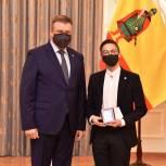 Активисты МГЕР получили знаки губернатора «За борьбу с COVID-19 на территории Рязанской области»