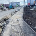 Николай Макариков взял на контроль состояние пешеходной дорожки в Рыбном