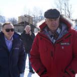 Сергей Носов осмотрел ряд объектов проведенного благоустройства общественных территорий  в  Тенькинском городском округе