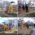 Единоросы помогли благоустроить детскую площадку в ЗАТО Светлый
