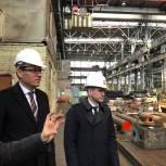 Денис Кравченко осмотрел производственный процесс на предприятии в Электростали