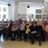 Дмитрий Голубков и Лариса Лазутина встретились с жителями Звенигорода