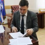 Дмитрий Хубезов подал документы в региональный оргкомитет по проведению предварительного голосования