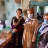 Многодетной семье из Чучковского района передали продуктовый набор от депутата облдумы