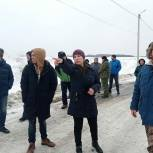 Максим Резников помог жителям Степановки определить место для оборудования контейнерной площадки