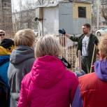 Активисты провели субботник у екатеринбургского детсада № 151
