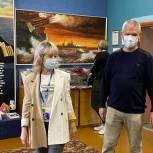 В Королеве партийцы посетили школьный музей боевой славы Балтийского флота