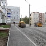 В Кыштымском городском округе в рамках партпроекта «Городская среда» идет благоустройство во дворе на улице Чернышевского, 4а и 4б