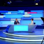 Игорь Руденя ответил нa актуальные вопросы жителей Верхневолжья в прямом эфире телеканала «Россия 24» Тверь