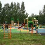 Новая современная детская площадка появилась в деревне Соколово-1