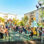 После капитальной реконструкции открылась современная детская площадка на Вторчермете
