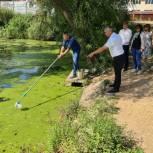 Сергей Лукьянов проконтролировал состояние водоемов в Дашково-Песочне