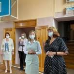Дарья Репина проверила готовность школ Полысаева к новому учебному году