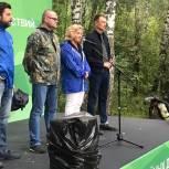 Алла Полякова: В Ушмарском лесу нам удалось собрать и отсортировать более 16 кубометров отходов