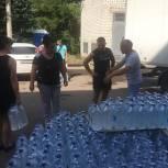 Активисты единого волонтерского штаба и молодогвардейцы обеспечили питьевой водой жителей Железнодорожного района Ульяновска