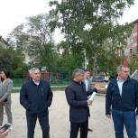 Руслан Кухарук и Сергей Медведев проконтролировали  благоустройство дворов