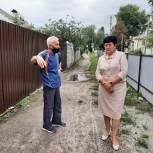К Ольге Германовой обратились по вопросу расчистки водоотводного канала в Сеймском округе