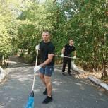 Депутат Кыштымского городского округа вместе с воспитанниками спортивного клуба принял участие в акции «Подарим детям чистый город»