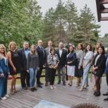 Перемены в Химках обсудили на медиаланче с Ириной Родниной и Дмитрием Волошиным