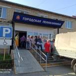 В Верхнем Уфалее более 50 активистов и волонтеров помогают Городской поликлинике переехать на время ремонта