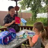 Марина Шевченко передала школьный набор малообеспеченной семье из Дмитрова