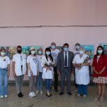 Добровольцы Единого волонтерского штаба поблагодарили сотрудников мобильных пунктов вакцинации