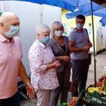 Инициативная группа можайских единороссов прошла с рейдом по овощным торговым точкам