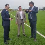 Леонид Пронин принял участие в торжественном открытии нового футбольного поля в Козловке