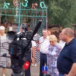 Людмила Глухова и Василий Чернышов приняли участие в рабочей поездке врио губернатора в Каменский район