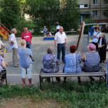 На встрече в Заводском районе обсудили благоустройство дворовой территории