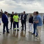 Алла Полякова посетила комплекс переработки строительных отходов в Домодедове