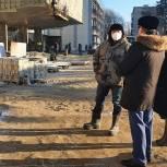 Владимир Вшивцев посетил стройплощадку новой школы в Тучково