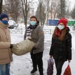 Луховицкие волонтеры обеспечили пожилую женщину овощами