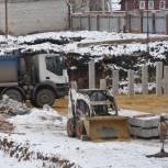 Строительство нового здания школы №1 в городе Сасово идет полным ходом