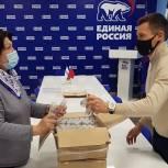 Александр Легков передал антисептики волонтерам Сергиево-Посадского городского округа
