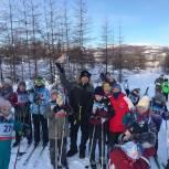 Юные лыжники приняли участие в новогоднем забеге
