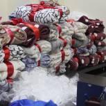Теплые пледы для сообщества детей паллиатива передали сотрудники томского отделения ЕР