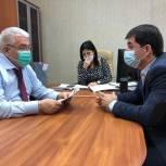 Абдулмажид Маграмов встретился с координатором проекта «Детский спорт» в Дагестане