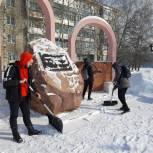 В канун Дня защитника Отечества волонтеры привели в порядок памятники и мемориалы