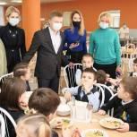 Владимир Жук проверил качество питания в школах Дзержинского