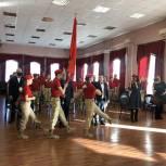 Юнармейцы школы № 13 поздравили с Днем Защитника Отечества военнослужащих 2-ой Армии