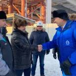 Алексей Ситников проинспектировал строительство многоуровневой транспортной развязки в Новом Уренгое