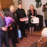 В Егорьевске в День защитника Отечества ветерана поздравили со 100-летним юбилеем