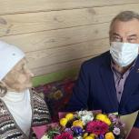 Владимир Ульянов поздравил долгожительницу из Тюменского района со столетием