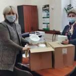 Сасовскому ковид-госпиталю передали посуду для пациентов