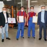 Единороссы выразили благодарность сотрудникам мытищинской организации «Артим» за помощь медикам